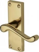 Marcus PR610-PB Malvern Lever Latch Door Handles Polished Brass £14.17