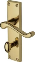 Marcus PR620-PB Malvern Lever Bathroom Door Handles Polished Brass £17.69