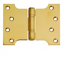 "Parliament Hinges Button Tipped XL972 4"" x 3\"" x 5\"" PVD Brass PAIR £17.80"