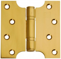 "Parliament Hinges Button Tipped XL976 4"" x 2\"" x 4\"" PVD Brass PAIR £16.60"