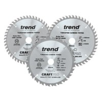 Trend Circular Plunge Saw Blades Craft Pro Triple Pack  CSB/160/3PK/A 160mm x 24T - 48T/PT - 48T £54.51