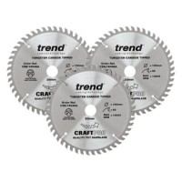 Trend Circular Plunge Saw Blades Craft Pro Triple Pack CSB/160/3PK 160mm x 48T x 20mm £41.20
