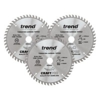 Trend Circular Plunge Saw Blades Craft Pro Triple Pack CSB/PT160/3PK 160mm x 48T £67.83