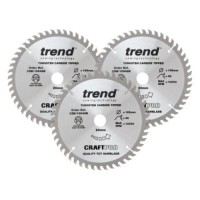 Trend Circular Plunge Saw Blades Craft Pro Triple Pack CSB/PT165/3PK 165mm x 48T £67.83