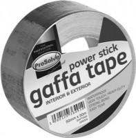 ProSolve Waterproof Gaffa Tape 50Mtr x 50mm Black £4.51