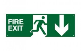FS17 Fire Exit Running Man Sign c/w Adjustable Arrows £9.00