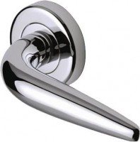 Marcus SC1012-PC Goccia Round Rose Lever Door Handles Polished Chrome £13.86