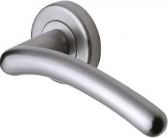 Marcus SC2012-SC Ico Round Rose Lever Door Handles Satin Chrome £13.32