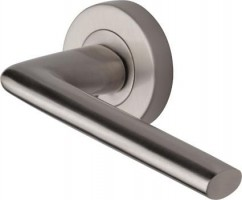 Marcus SC2352-SN Lena Round Rose Lever Door Handles Satin Nickel £20.31