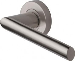 Marcus SC4692-SN Mercury Round Rose Lever Door Handles Satin Nickel £17.69