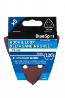 Delta Sanding Sheets 93mm 120Grit Pack of 5 BlueSpot 19862 £0.67