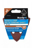 Delta Sanding Sheets 93mm 60Grit Pack of 5 BlueSpot 19860 £0.78