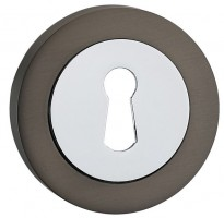 Fortessa Lever Key Escutcheons Gun Metal Grey & Polished Chrome per Pair £9.82