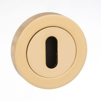 Mediterranean Lever Key Escutcheon M-ESC-K-BP Polished Brass Plated £3.59