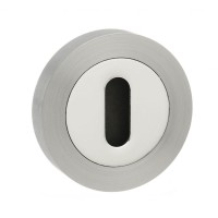 Mediterranean Lever Key Escutcheon M-ESC-K-SNCP Satin Nickel / Polished Chrome (Sold In Pairs) £7.39