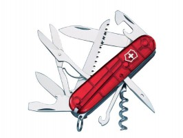 Victorinox Swiss Army Knife Huntsman Translucent Red Blister £32.88