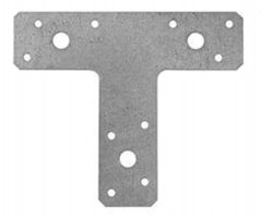 T Brackets 150mm x 128mm x 38mm Galv Pack of 10 £14.95