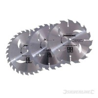 TCT Circular Saw Blades Silverline 165mm Pack of 3 £13.91