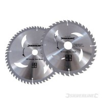 TCT Circular Saw Blades Silverline 250mm Pack of 2 £26.00