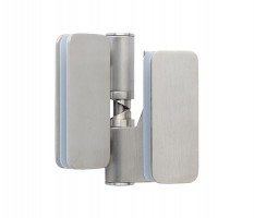 Toilet Cubicle Hinges Glass Gravity Overlap Right Hand T113SMR Grade 316 Satin Stainless Pair £120.44