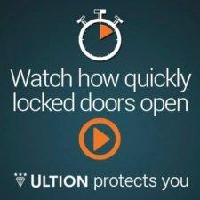 Ultion cylinder locks available from Cookson Hardware