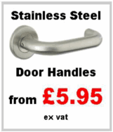 Zoo Hardware Satin Stainless Steel SSS Door Handles and accessories available to buy online from Cookson Hardware UK