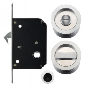 zoo sliding pocket door lock set fb81sc satin chrome fb81sc from