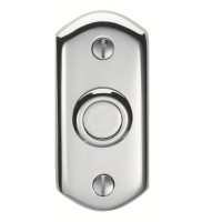 Carlisle Brass Shaped Bell Push AQ31CP Polished Chrome £13.92
