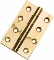 100mm x 76mm Butt Hinge HDPBW8 Polished Brass per single £6.48