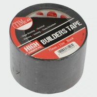Timco High Strength Builders Tape 33M x 75mm Black £4.49